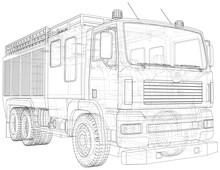Fire Truck. Fire Engine Vector...