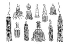 ..A Set Of Various Tassels And...