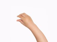 Studio Shot Of A Boy Hand Hang...