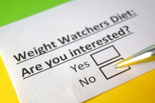 One Person Is Answering Question About Weight Watchers Diet.