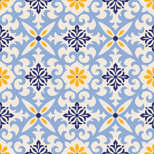 Seamless Damask Pattern. Majol...