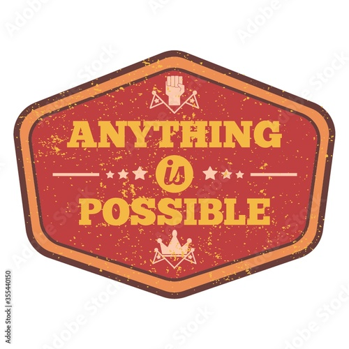 anything is possible quote Canvas-taulu