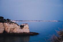 Portuguese Algarve Cliff Landscape At Nightfall