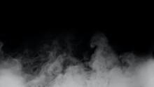 White Smoke Or Fog Isolated On...