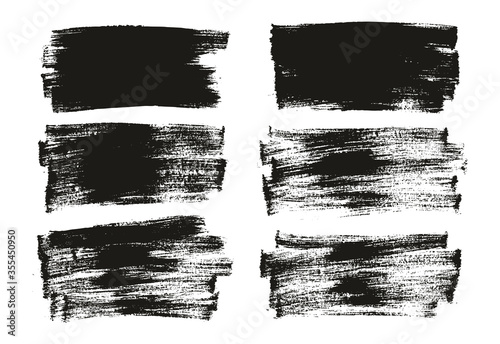 Flat Paint Brush Thin Long Background High Detail Abstract Vector Background Set Fotobehang