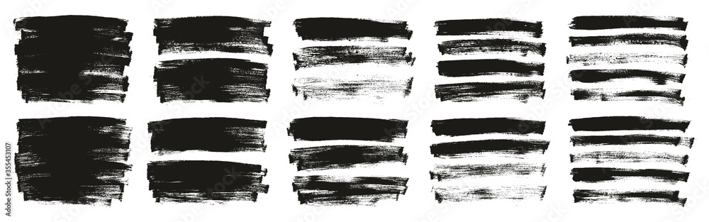 Fototapeta Flat Paint Brush Thin Long Background High Detail Abstract Vector Background Ultra Set