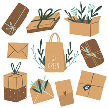 Seamless Pattern With Eco Pack...