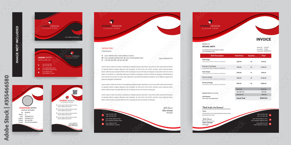 Fototapeta Modern Corporate identity branding Stationery Template Design