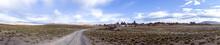 Panoramic View Of Desert Plain...