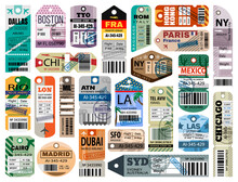Baggage Tag Isolated Cartoon S...