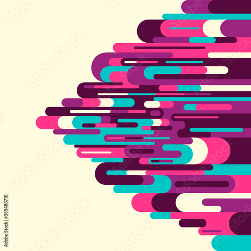 Abstract style background with colorful modern design, made of various rounded lines and shapes Wallpaper Mural