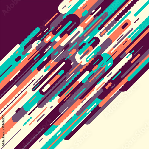 Fotografia Abstract background made of retro style designed shapes