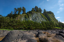 Tow (Taaw) Hill, A Beautiful Ancient Volcanic Plug Remnant In Naikoon Provincial Park On The North Shore Of Graham Island Of Haida Gwaii (formerly Queen Charlotte Islands) In British Columbia, Canada