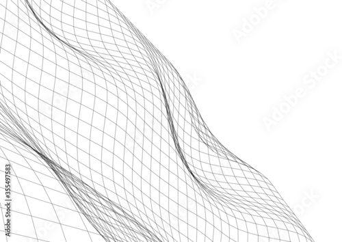 Architectural drawing. Geometric background 3d Fototapete