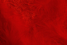 Background Of Red Fluffy Feath...