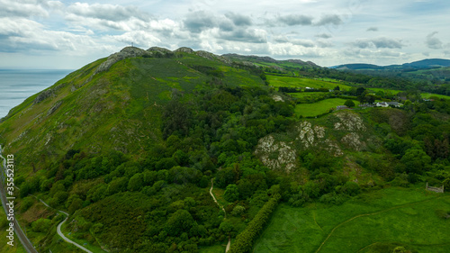 Bray Head in county Wicklow Ireland aerial Wallpaper Mural