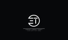 ET ,TE ,E ,T Letters Abstract Logo Monogram
