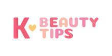 K-Beauty Tips, Vector Text Ill...