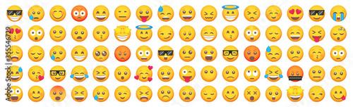 Big set of emoticon smile icons Tableau sur Toile