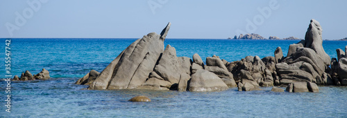 Obraz Mittelmeerküste auf Sardinien bei Villasimius - fototapety do salonu