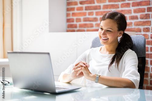 Obraz Online Video Conference Elearning Call - fototapety do salonu
