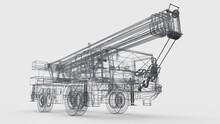 Mesh Mobile Crane. Three-dimen...