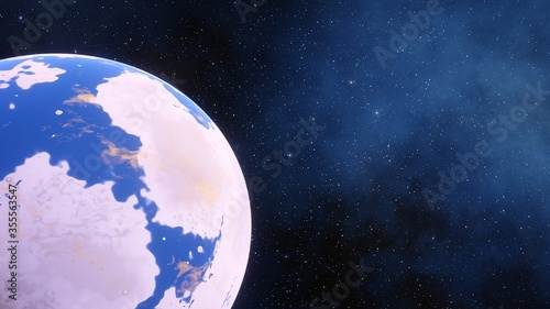 beautiful planet in far space, space background for design, outer space, planets Wallpaper Mural