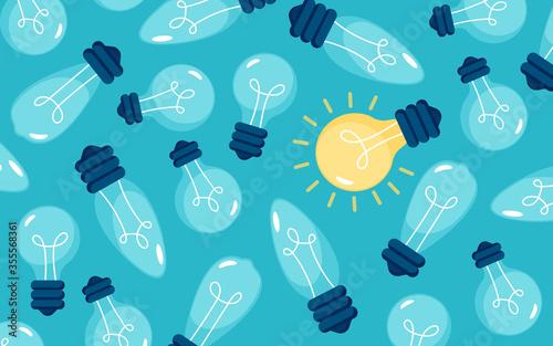 Photo Creativity light bulb different, unique, Anomaly
