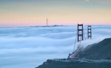 Low Fog In Golden Gate Bridge