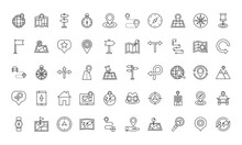 Bundle Of Area And Locations Set Icons