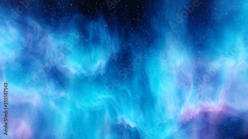 Obraz Nebula and galaxies, planets in space, science fiction wallpaper. Beauty of deep space. Billions of galaxies in the universe. Cosmic art background - fototapety do salonu