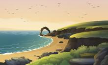 Scotland Sea Coast Landscape. ...