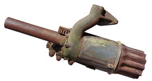 The Exhaust Pipe Of An Old Rus...