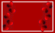 Red Wallpaper With Red Hearts