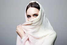 Beautiful Young Woman Covered ...