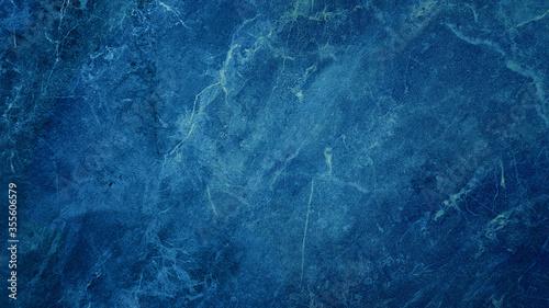 Obraz na plátne beautiful abstract grunge decorative dark navy blue stone wall texture