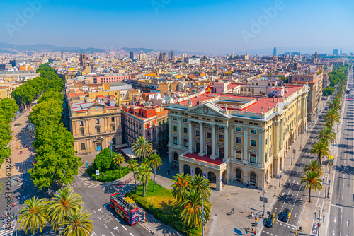 Obraz Aerial view of military government building in Barcelona, Spain - fototapety do salonu