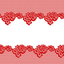 Red Lace Horizontal Seamless P...