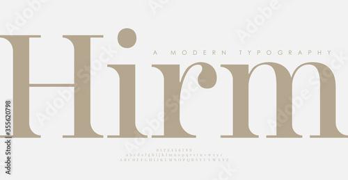 Fényképezés Elegant awesome alphabet letters font and number