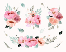 Pink Green Flower Arrangement ...