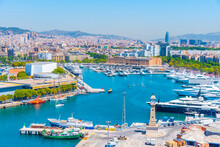 View Of The Port Of Barcelona ...