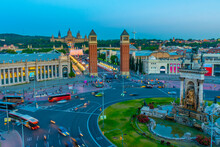 Sunset View Of Placa D'espanya...
