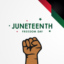 Juneteenth Freedom Day Vector ...