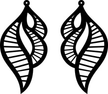 Earrings Svg Vector Cut File For Cricut Silhouette And Printable Jewelry Design