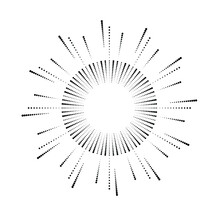 Radial Halftone Dots In Circle...