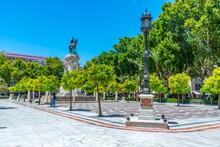 Statue Of Fernando III At Plaza Nueva Square In Sevilla, Spain
