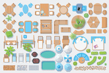 Icons Set. Outdoor Furniture A...