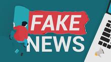 Stop Fake News. Young Man Reve...