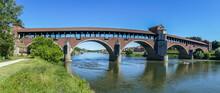 The Covered Bridge In Pavia