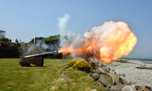 Historic Cannon Firing At Fort...